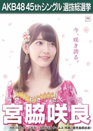 AKB48 45thシングル選抜総選挙ポスター 宮脇咲良