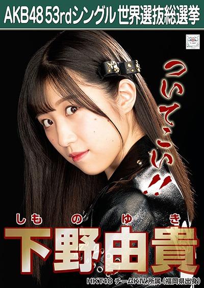 下野由貴 AKB48 53rdシングル 世界選抜総選挙ポスター
