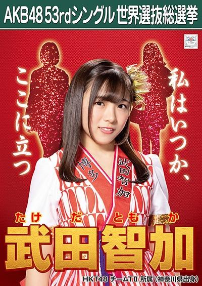 武田智加 AKB48 53rdシングル 世界選抜総選挙ポスター